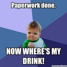Paperwork done.